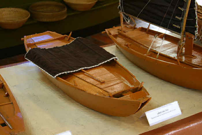 Model of a rowing boat from Halong Bay, Vietnam