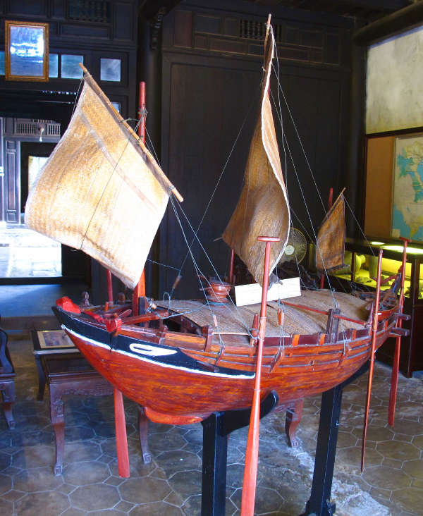 Model of a Sailing Freighter in Hoi An Museum of Trade Ceramics, Hoi An
