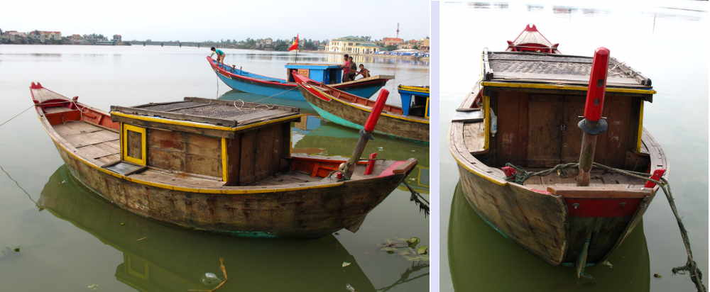 Two views of Ron style traditional fishing vessel
